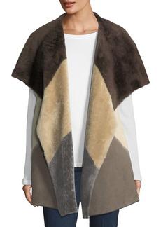Clemence Colorblock Fur Vest
