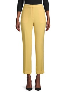 Lafayette 148 Clinton Finesse Crepe Cuffed Pants