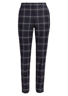 Lafayette 148 Clinton Plaid Cuff Pants