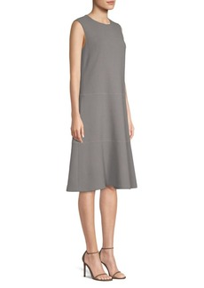 Lafayette 148 Colby Chain Detail A-Line Dress