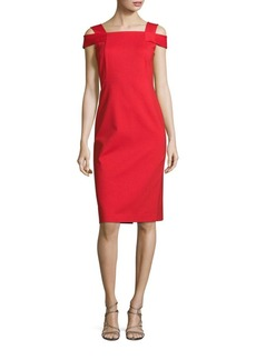 Lafayette 148 Cold Shoulder Sheath Dress