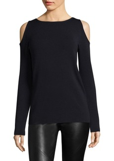 Lafayette 148 Cold-Shoulder Wool Sweater