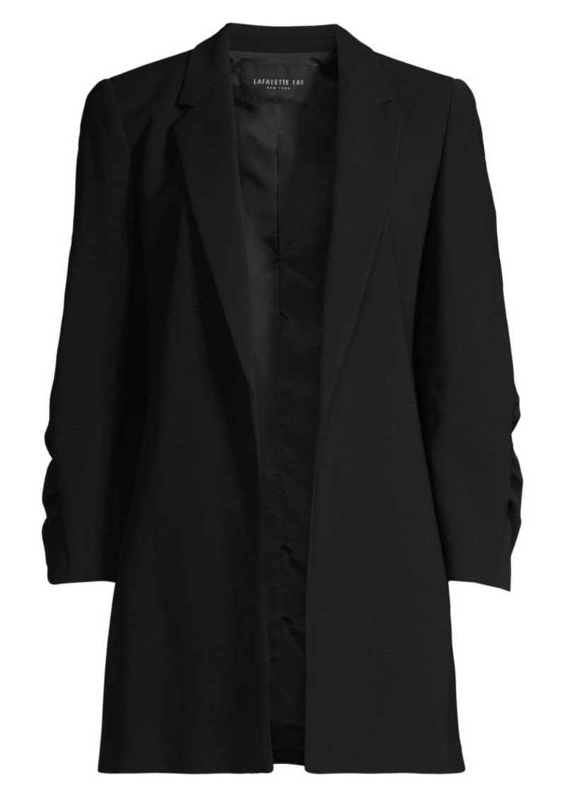 Lafayette 148 Cole Ruched Sleeve Crepe Blazer