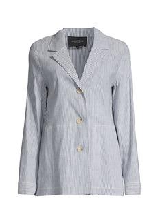 Lafayette 148 Coleman Pinstripe Jacket