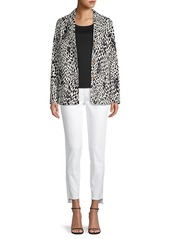 Lafayette 148 Coleman Printed Button Jacket