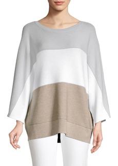 Lafayette 148 Colorblock Cashmere-Blend Dolman Sweater