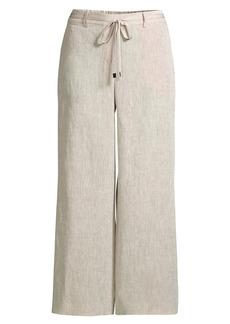 Lafayette 148 Columbus Linen Cropped Pants