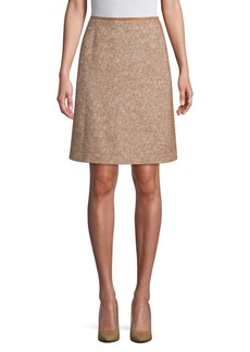 Lafayette 148 Coralyn Textured A-line Skirt