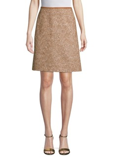 Lafayette 148 Coralyn Tweed A-Line Skirt