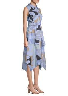 Lafayette 148 Cordelia Cotton Shirt Dress