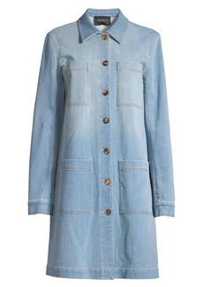 Lafayette 148 Corinthia Prestige Mid-Length Denim Jacket