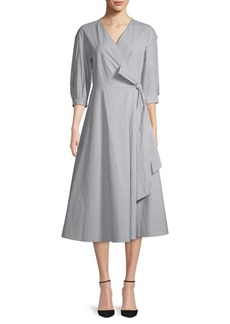Lafayette 148 Corley Stripe Wrap Dress