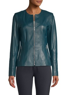 Lafayette 148 Courtney Leather Jacket