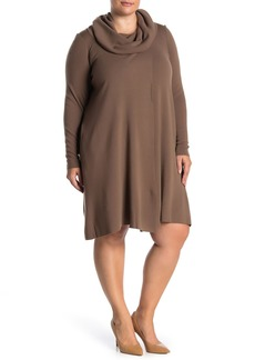 Lafayette 148 Cowl Neck Knit Sweater Dress (Plus Size)