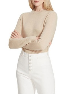 Lafayette 148 Crewneck Cashmere Sweater with Metallic