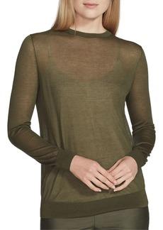 Lafayette 148 Crewneck Finespun Voile Sweater