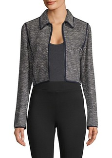 Lafayette 148 Cropped Cotton-Blend Jacket