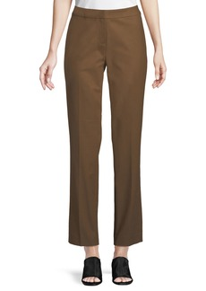 Lafayette 148 Crosby Straight-Leg Stretch-Cotton Pants