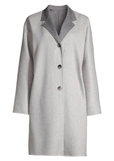Lafayette 148 Cullen Reversible Wool-Blend Coat