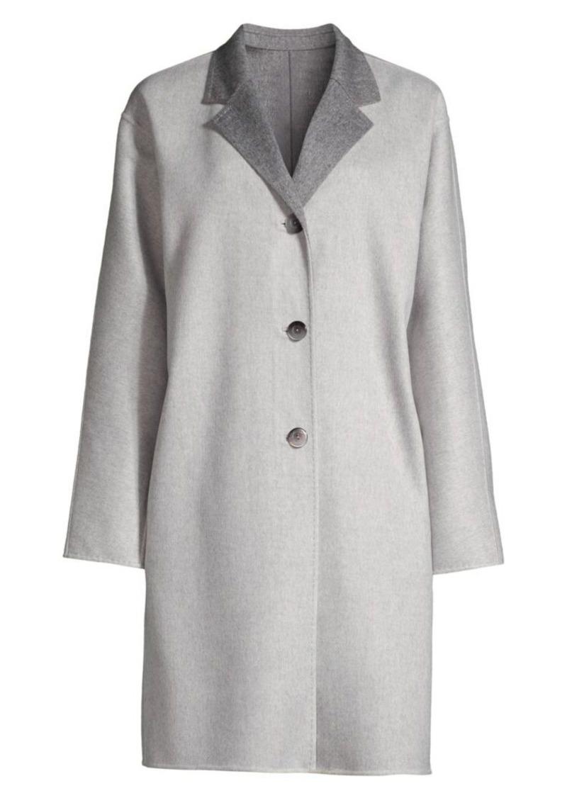Lafayette 148 Cullen Reversible Wool-Blend Coat