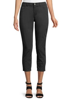 Curvy Slim-Leg Cropped Pants