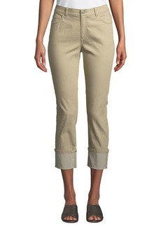 Lafayette 148 Dahlia Curvy Cropped Cuffed Jeans