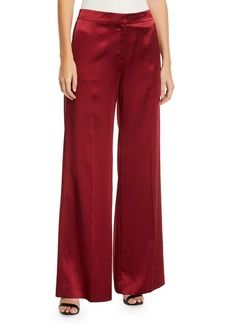 Lafayette 148 Dalton Reverie Satin Wide-Leg Pants