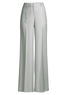 Lafayette 148 Dalton Silk & Wool Wide-Leg Trousers