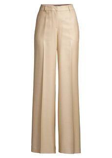 Lafayette 148 Dalton Silk & Wool Wide-Leg Trousers