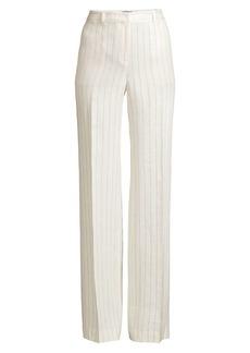Lafayette 148 Dalton Wide-Leg Linen Pants