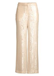Lafayette 148 Dalton Wide-Leg Sequin Pants