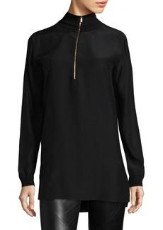 Lafayette 148 Daryn Silk Pullover Blouse