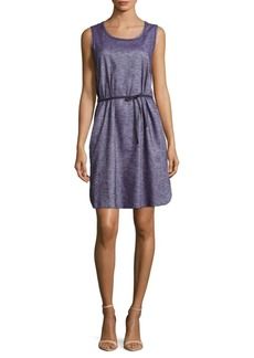 Lafayette 148 Dayton Chambray Linen-Blend Dress
