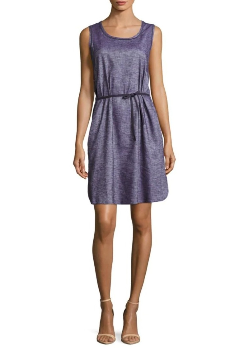 Lafayette 148 Dayton Chambray Linen-Blend Dress