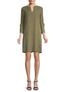Lafayette 148 Deandra Quarter-Sleeve Silk Dress