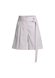 Lafayette 148 Degraw D-Ring Belted Shorts