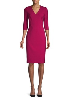 Lafayette 148 Delilah Three-Quarter Sleeve Sheath Dress