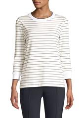 Lafayette 148 Delma Striped Knit Sweater