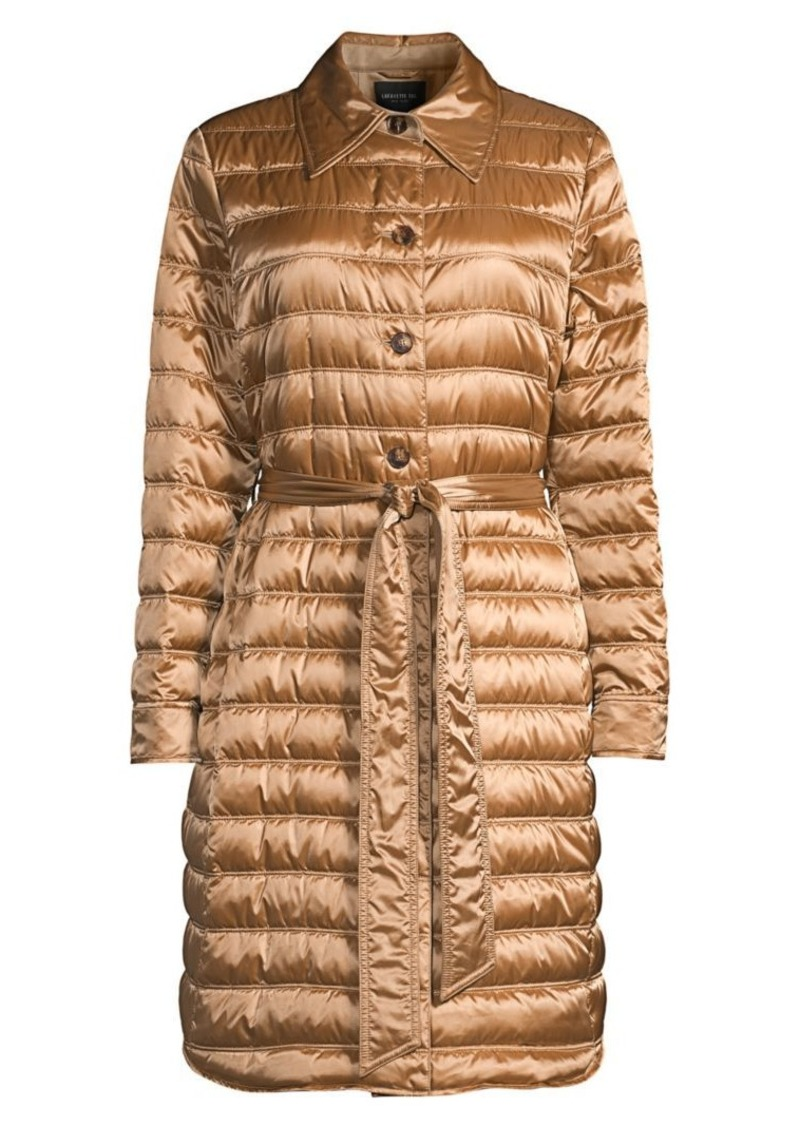 Lafayette 148 Delroy Quilted Tech Satin Coat