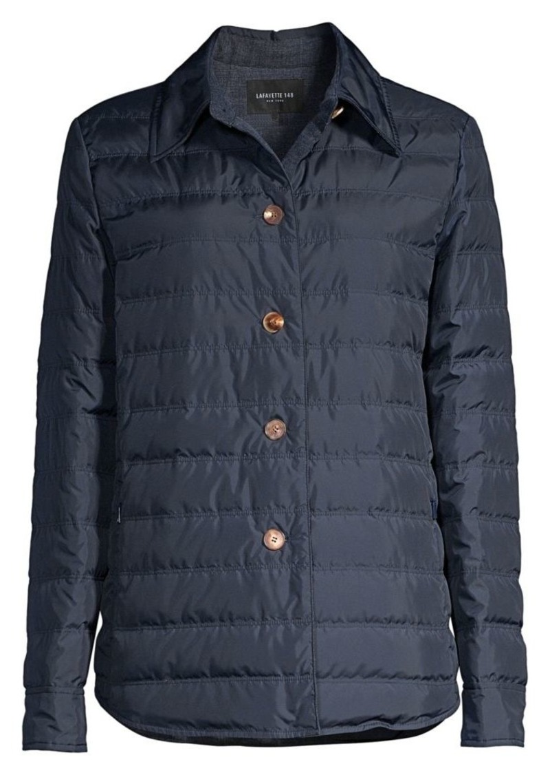 Lafayette 148 Delroy Short Quilted Coat