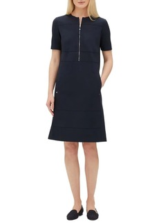 Lafayette 148 Demi Zip-Front Shift Dress