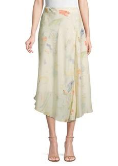 Lafayette 148 Dessie Printed Silk Midi Skirt