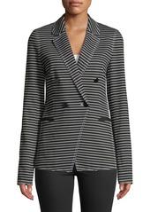 Lafayette 148 Devin Double-Breasted Striped Twill Jacket