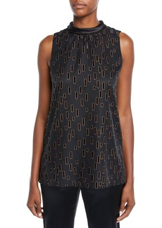 Lafayette 148 Didi Deco Droplets Burnout Blouse
