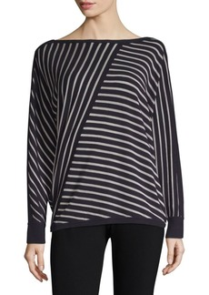 Lafayette 148 Directional Striped Top
