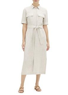 Lafayette 148 Doha Sundance Stripe Short-Sleeve Shirtdress