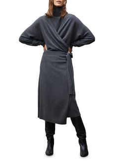 Lafayette 148 Dolman Sleeve Wrap Cardigan Dress