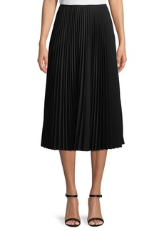 Lafayette 148 Dorothy Pleated Midi Skirt