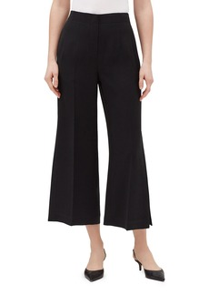 Lafayette 148 Downing Finesse Crepe Cropped Slit Pants
