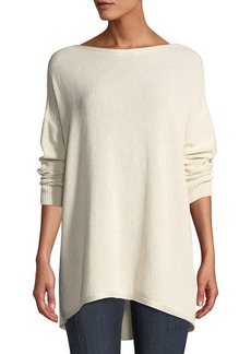 Lafayette 148 Drop-Shoulder Novelty Sequin  Pullover Sweater
